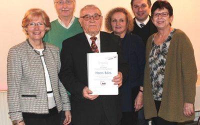 Hans Börs für langjährige ehrenamtliche Mitarbeit geehrt