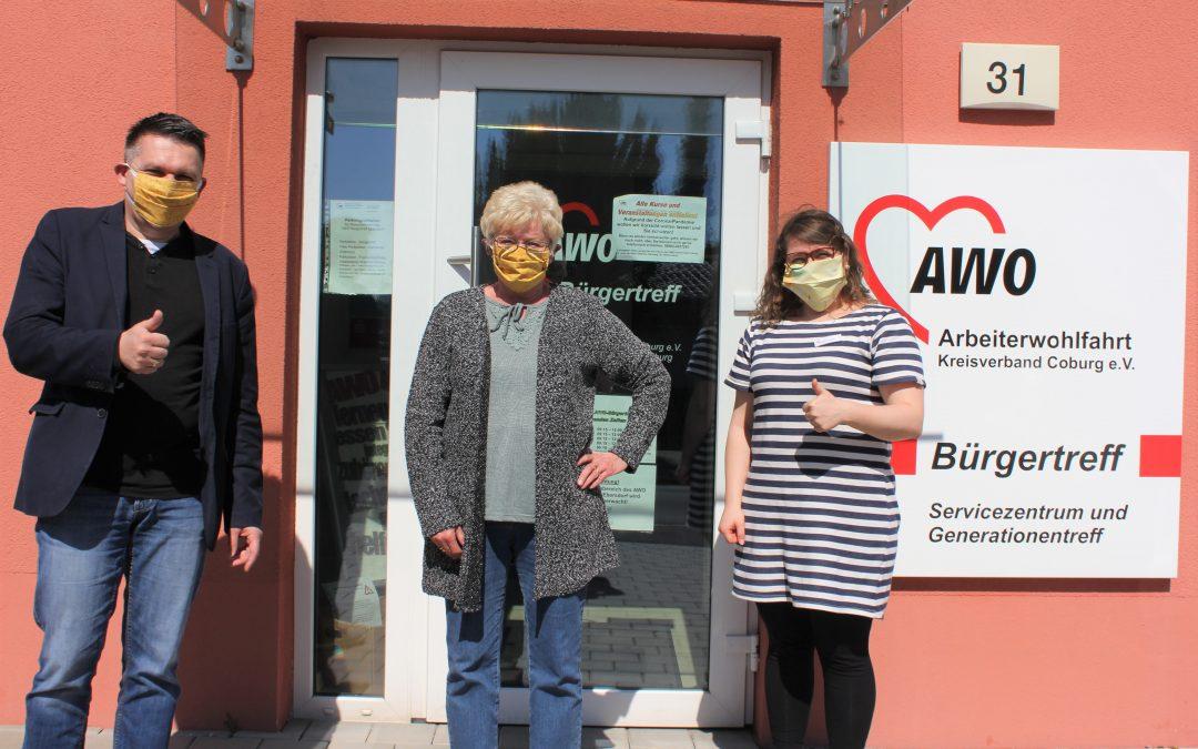 AWO Bürgertreff Ebersdorf näht Behelfs-Masken